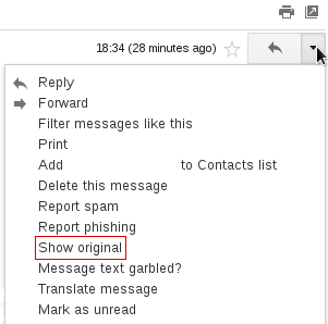 Gmail Show Original