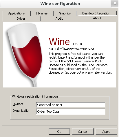 Wine Registration Information